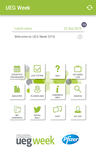 UEG Week 2016 - screenshot