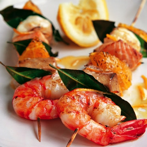 Fish Kebabs With Shrimps