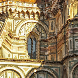 Duomo by Cosmin Tomescu - Buildings & Architecture Public & Historical ( florence, light and dark, sunrays, dome, firenze, near sunset, duomo, chiarobscuro )