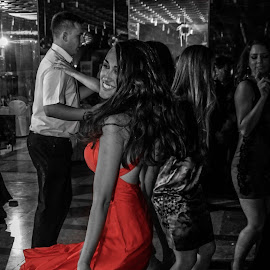 Red dress by Zdravko Krsnik - People Fashion ( red, dress, dance,  )