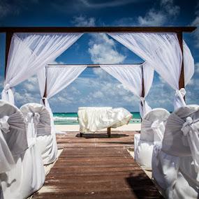 Beach Wedding by Habashy Photography - Wedding Ceremony ( clouds, wedding,  )