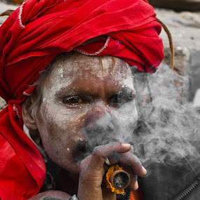 The Smoke, The Baba and The Kashi ! by Akash Dubey - People Street & Candids ( kashi, baba weed. smoke weed, varanasi )