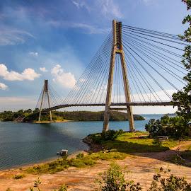 Raja Ali Haji Bridge, connecting Batam Island & Tonton Island by Demi Nst - Buildings & Architecture Bridges & Suspended Structures ( sky, brigde, architecture, scenery, landscape, island )