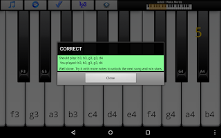 Screenshot of Piano Melody Pro