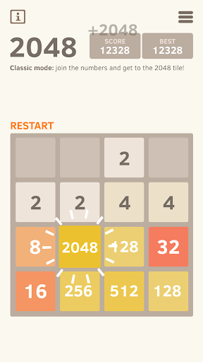 2048 Number puzzle game screenshot 5