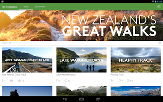 Screenshot of New Zealand's Great Walks