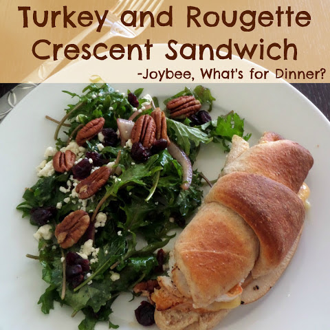 Turkey and Rougette Crescent Sandwich