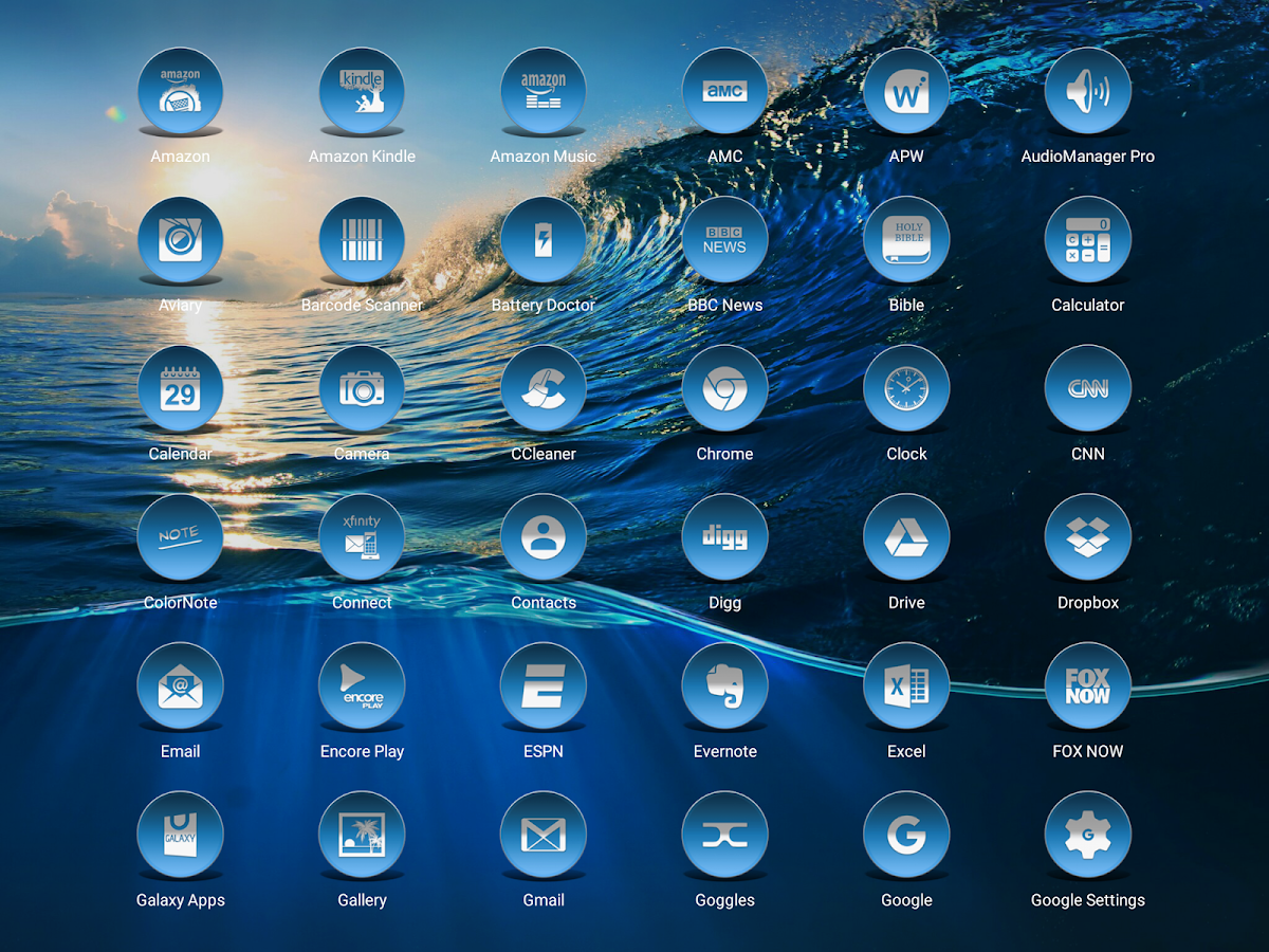 Daf Blue - Icon Pack Screenshot 11