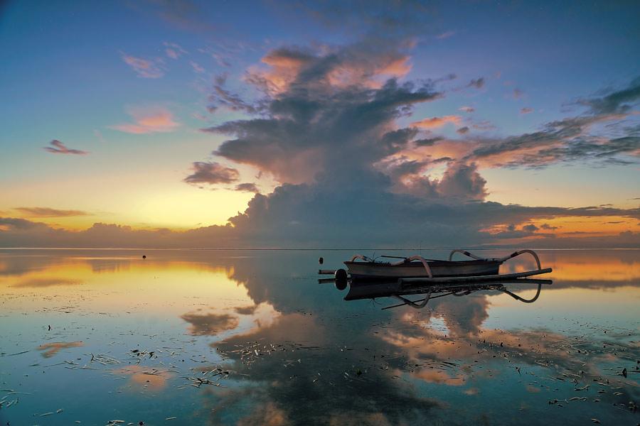 Morning Reflection by Gunk Satria - Landscapes Sunsets & Sunrises