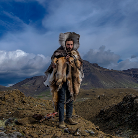 Iceland - Blue Fox by Gourab Mitra - People Portraits of Men ( potrait, hills, iceland, mountain, travel, photography, wanderlust )