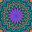 Pen and Ink Kaleidoscope by Nancy Bowen - Illustration Abstract & Patterns ( kaleidoscope, purple, green, pink, flower )