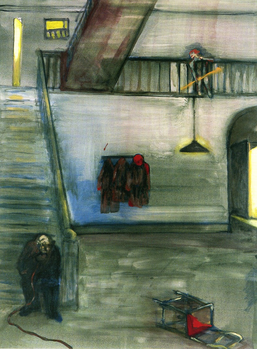 Robert Hodgins (1920 – 2010), A Distant Connection, oil on canvas, 120 x 90 cm, 1994