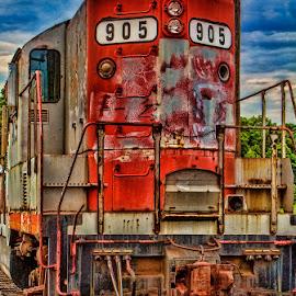 The 905 by John Zyrlis - Transportation Trains ( painted, engine, train, transportation, rust )