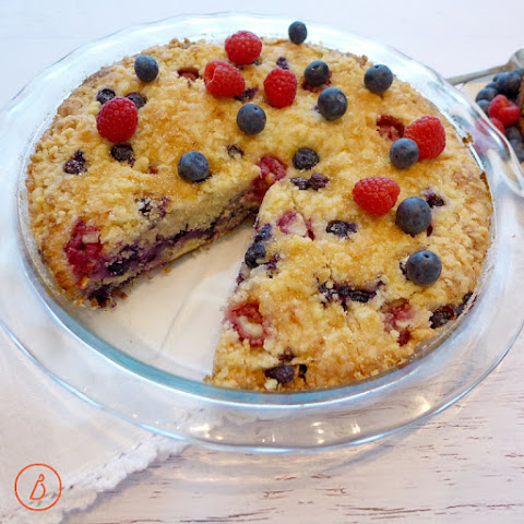 Red, White and Blueberry Buckle