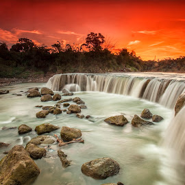 Parigi water fall by Mc Pujiyanta - Landscapes Sunsets & Sunrises ( bekasi, parigi, waterscape, sunset, waterfall, landscapes )