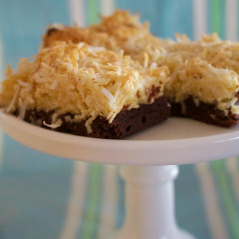 Coconut-topped Cocoa Brownies