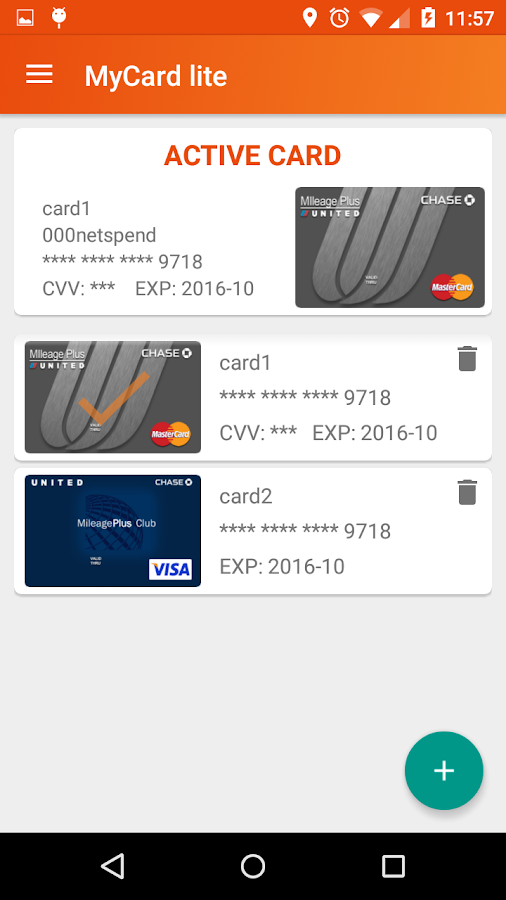 MyCard lite Screenshot 0
