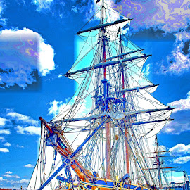 Tall Ships by Will McNamee - Digital Art Things ( dld3us@aol.com, gigart@aol.com, aundiram@msn.com, danielmcnamee@comcast.net, mcnamee2169@yahoo.com, ronmead179@comcast.net )