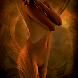 FIRE by Carmen Velcic - Nudes & Boudoir Artistic Nude ( abstract, body, nude, girl, woman, she, lady, digital )