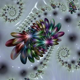 Spiral 53 by Cassy 67 - Illustration Abstract & Patterns ( digital, modern art, love, harmony, surreal, flowers, abstract art, surrealism, spiral, abstract, jux, fractals, digital art, swirl, light, fractal, energy )