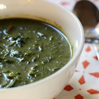 Creamy Chard and Spinach Soup