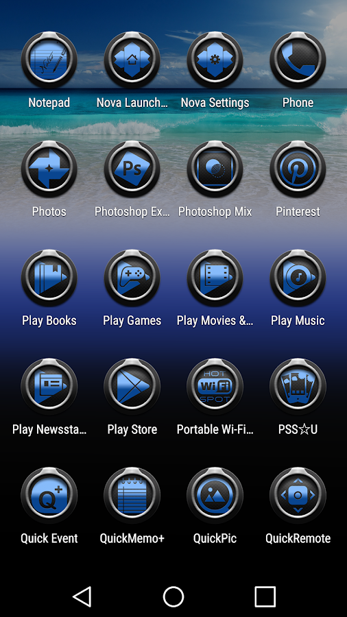 Tea Blue Dark - Icon Pack Screenshot 4