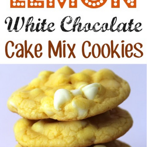 White Chocolate Dried Cranberry Cake Mix Cookies
