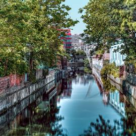 Small neighborhood in May (Nantong, China), 05-2015 by Vlad Meytin - City,  Street & Park  Neighborhoods ( canals, warm, vladsm, bright, art photography, neighborhood, pictures, nantong, art pictures, meytin, city canal, photography, 中國, vlad meytin, sunny, k.h. imporium co., 南通, www.flickr.com/vmwelt, vladsm.com, china, 中国 )