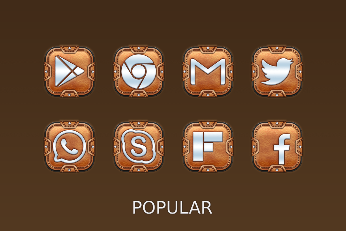 Leather Pouch-Icon Pack Screenshot 7