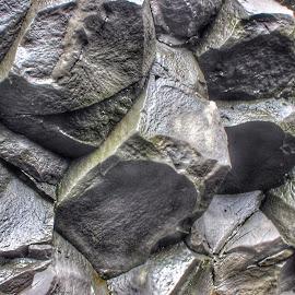 Basalt Cave Rocks  by Tara Bauman - Nature Up Close Rock & Stone