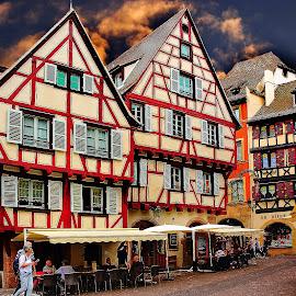 Colmar - Hôtel du Fer Rouge by Gérard CHATENET - City,  Street & Park  Historic Districts
