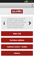 Screenshot of AY YILDIZ Prepaid