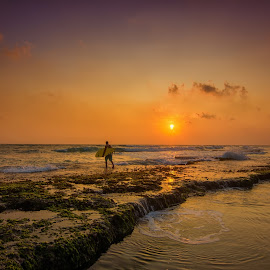 Time To Adventure  by Sihina Lahiru - Landscapes Beaches ( surf, surfer, sky, beauty, surfing, sun, sea, summer, adventure, beaches, orange, outdoor, beautiful, ocean, outdoors, golden hour, sri lanka, coral, sunset, beach, sundown, object )