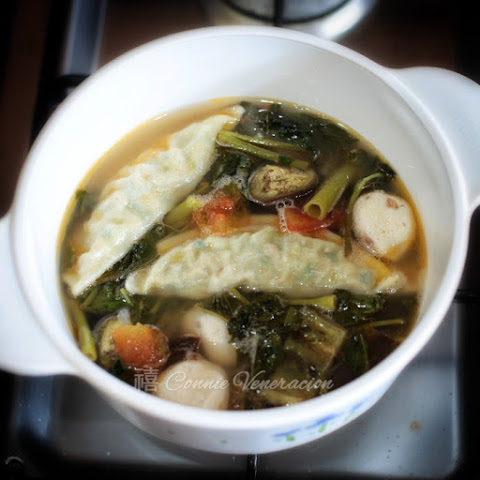 Vegan Sinigang With Vegetable Dumplings