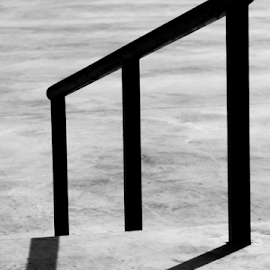 Trompe L'oeil by Noel Hankamer - Abstract Patterns ( abstract, skate, park, street, sport, skate-park, skating, minimalist, skateboard, shadows, concrete, skatepark, skateboarding, background, outdoor, rail, empty )