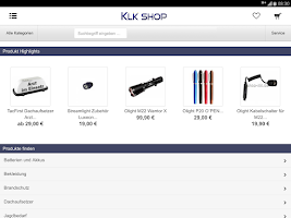 Screenshot of KLK Sicherheitsbedarf e.K