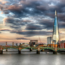 London by Abdul Rehman - City,  Street & Park  Skylines ( clouds, natural light, the shard, uk, shard, london bridge, london, natural )