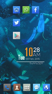 Lively blue landscape theme - screenshot