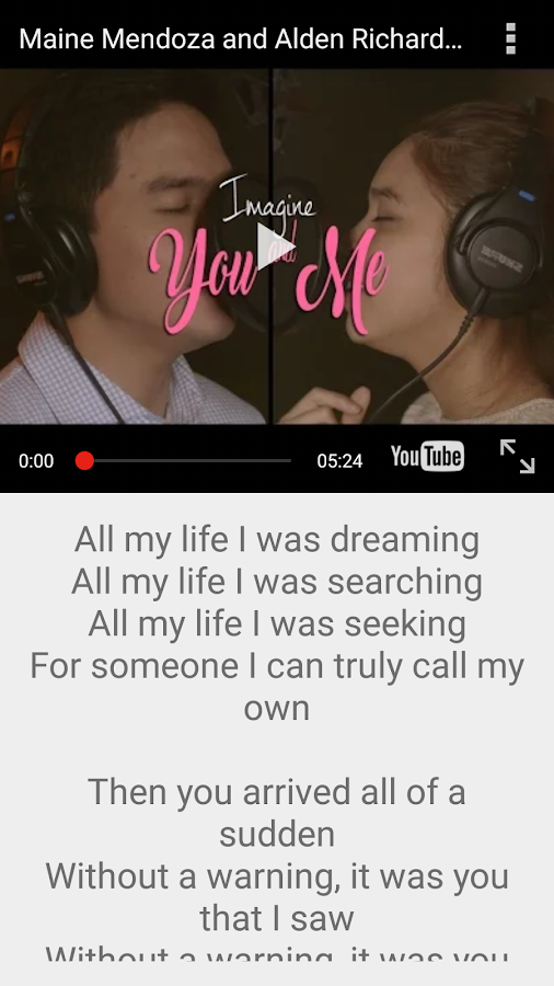 Imagine You & Me Lyrics Pro Screenshot 0