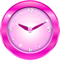Pink Analog Clock Widget APK for Kindle Fire