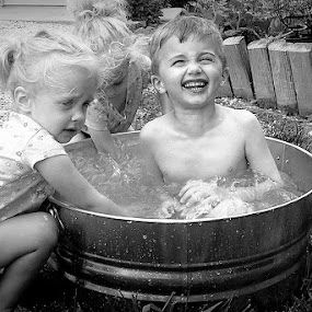 Summer Time Bath by Marme Potts - Babies & Children Children Candids