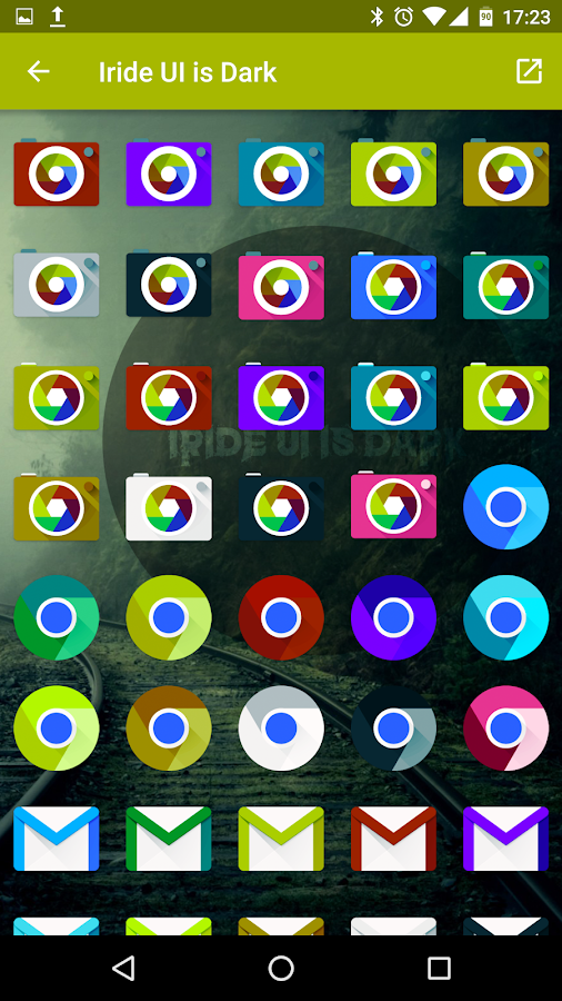 Iride UI is Dark - Icon Pack Screenshot 10
