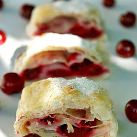 Strudel with cherries by Alka Smile - Food & Drink Candy & Dessert