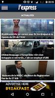 Screenshot of L'Express (La Sentinelle LTD)