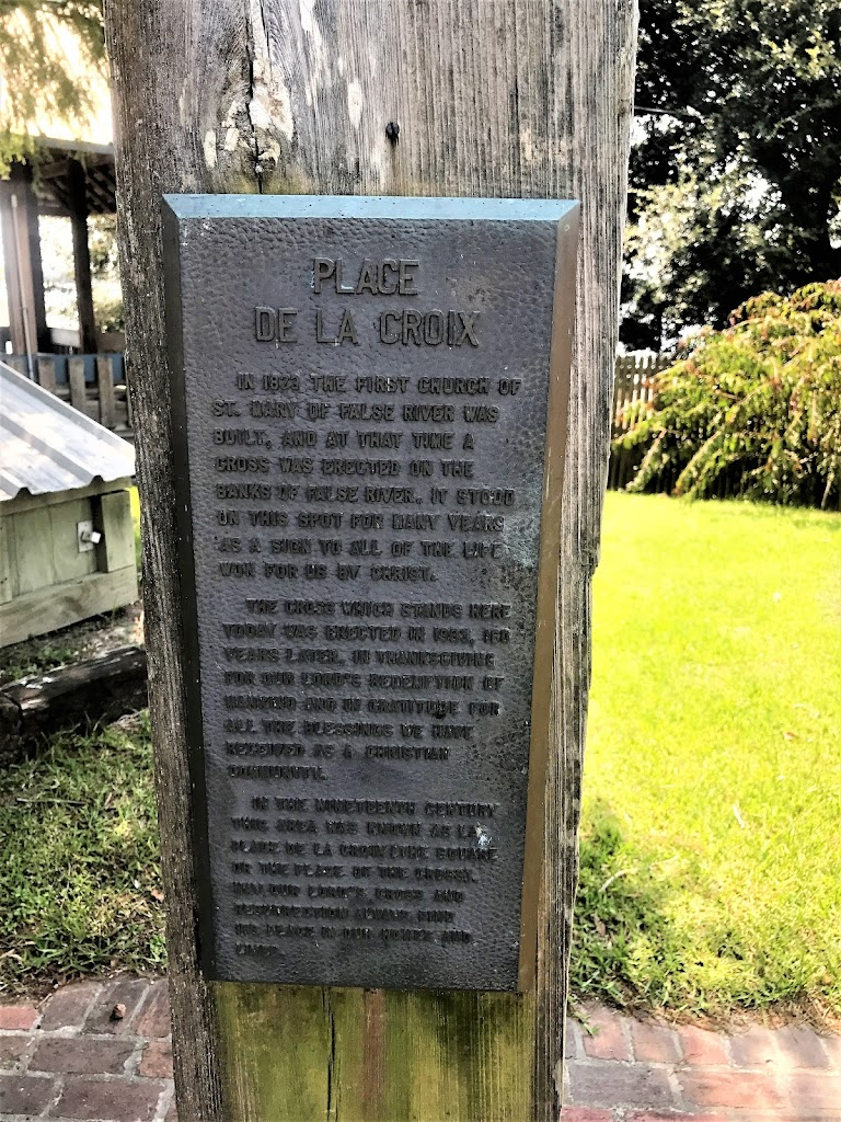 In 1823 the first Church of St. Mary of False River was built, and at that time a cross was erected on the banks of False River. It stood on this spot for many years as a sign to all of the life won ...
