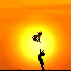 Catching Flight by Alit  Apriyana - Babies & Children Children Candids