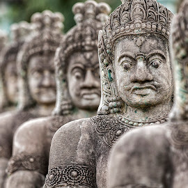 Angkor Warriors by Steve Badger - Buildings & Architecture Statues & Monuments ( statue, angkor, travel, cambodia, siem reap )