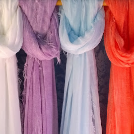Silk scarfs by Claudiu Petrisor - Artistic Objects Other Objects ( silk, fashion, colorful, venice, scarf )