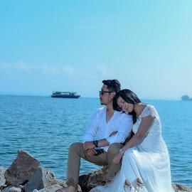 Lake Toba Indonesia Couple Engagement by Fredy Pandia - Wedding Bride & Groom ( prewed, f1.8, nature, prewedding, wedding, d610, 50mm, lake, bride and groom, lake toba, bride, groom, portrait )