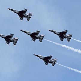 Thunderbirds by Melanie Melograne - Transportation Airplanes